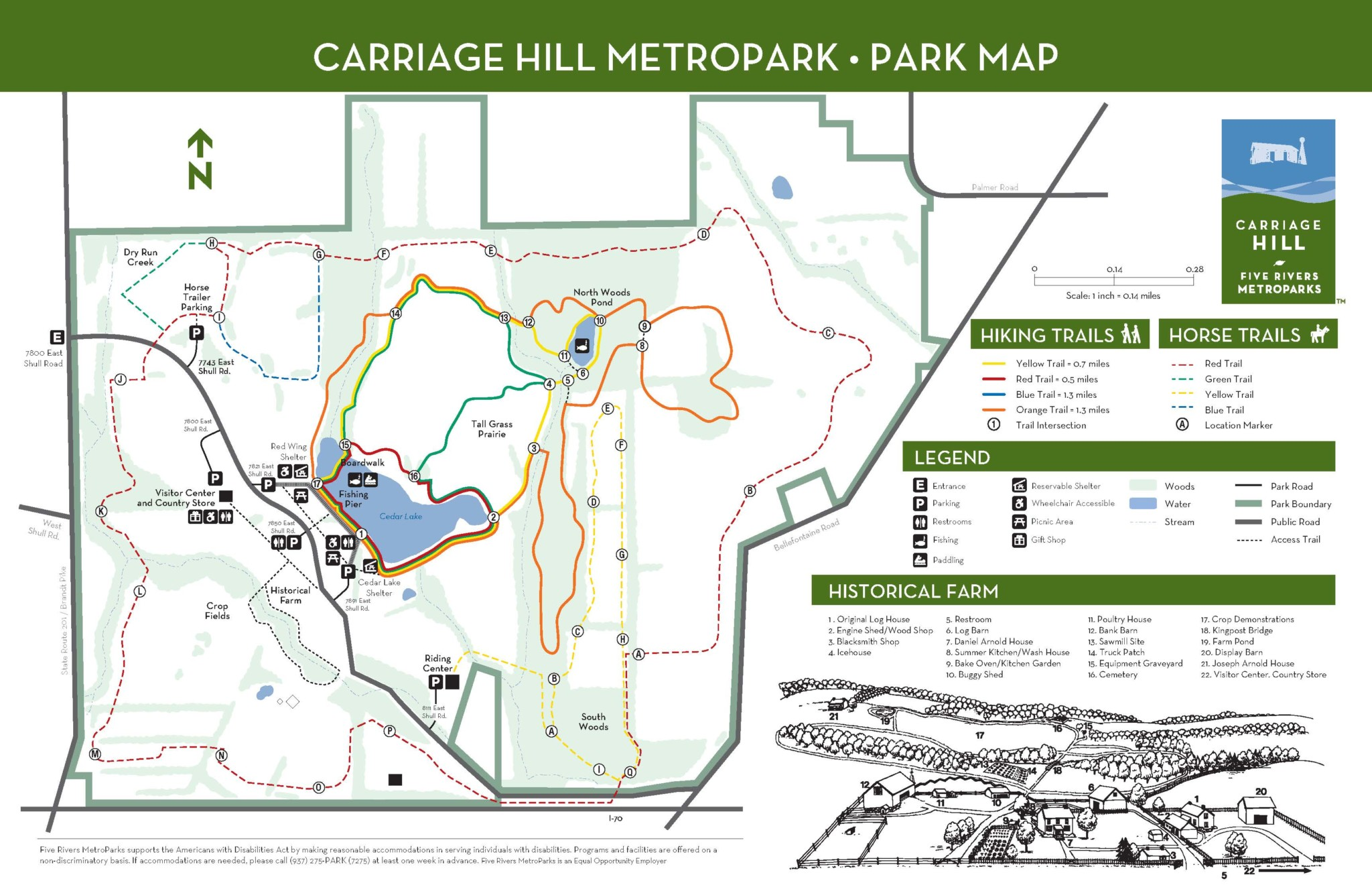 Christmas Hill Park Map.Carriage Hill Metropark Five Rivers Metroparks