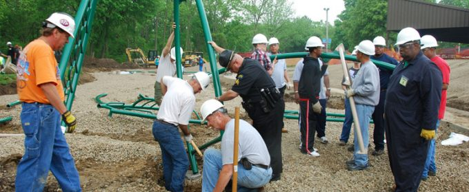 Playground build at Wesleyan