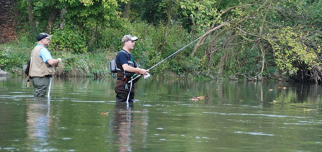Water trails five rivers metroparks for Mad river fishing