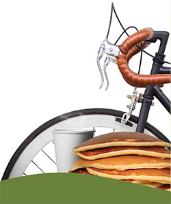 Bike with pancakes