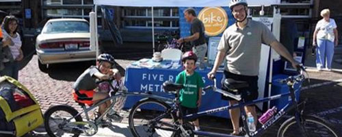 Family at Bike to the Market event