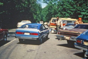 Cruise-in, 1970's and a full park