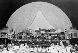 Performance in the Band shell circa 1955