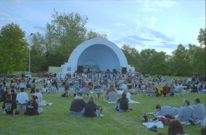 A concert at the Band shell at Island MetroPark in the 1990s