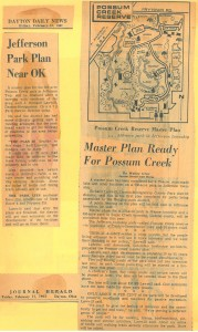 The 1967 master plan for Possum Creek explained in the Dayton Daily News and Journal Herald