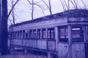 One of the old streetcars