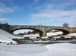 Veteran's Memorial Bridge in Winter