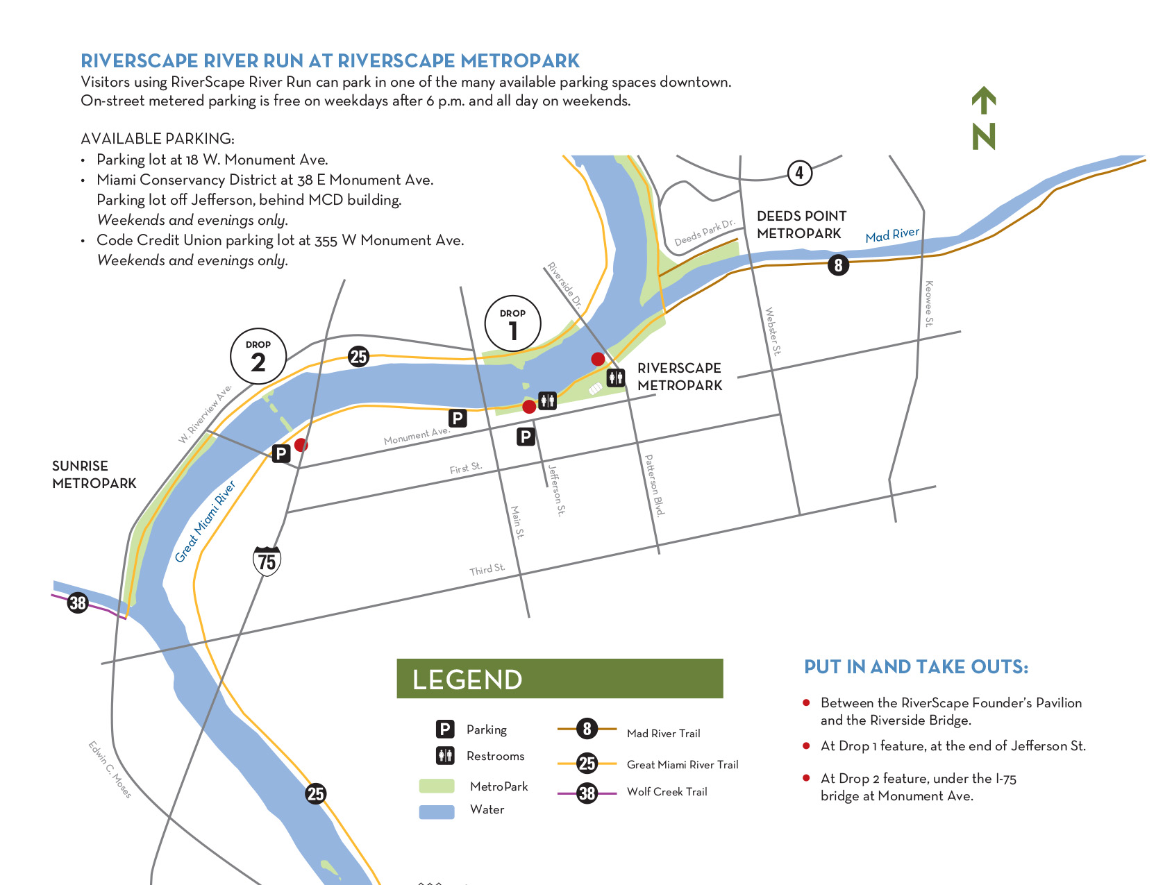 Riverscapes river run five rivers metroparks view full size map malvernweather Images