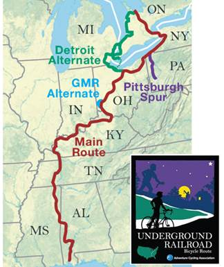 Touring Routes Five Rivers Metroparks - Us-bicycle-route-50-map