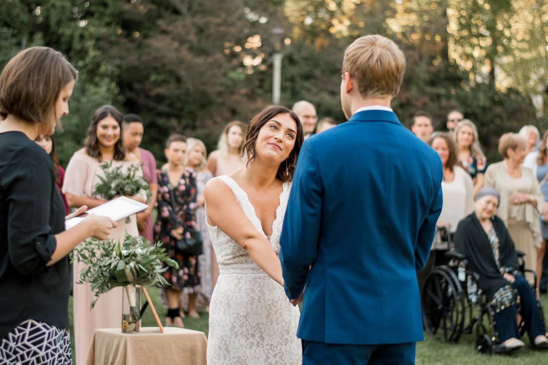 simple wedding at Wegerzyn Gardens MetroPark